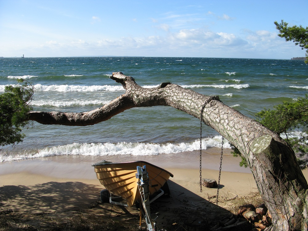 Stranden vid E-luxområdet, Bromma