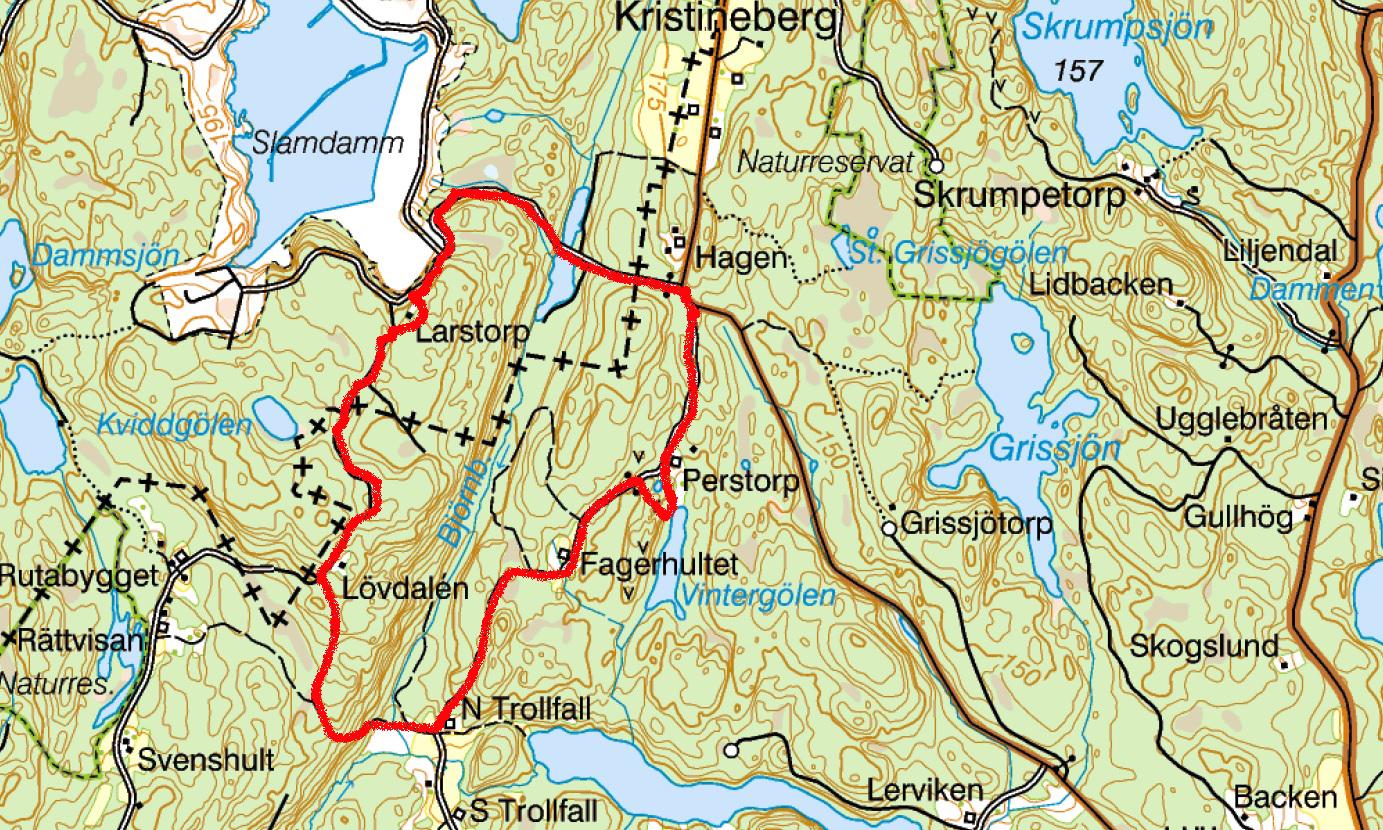 godegård karta Vandring vid Norra Trollfall i Godegård – Motala godegård karta