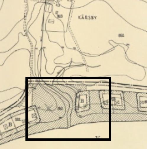 Del av gällande Byggnadsplan för fritidsbebyggelse 1959