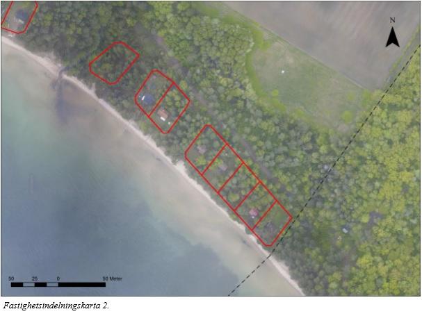 Fastighetsindelningskarta 2 ur ändring av detaljplan Kärsby 1:7, antagen 2013