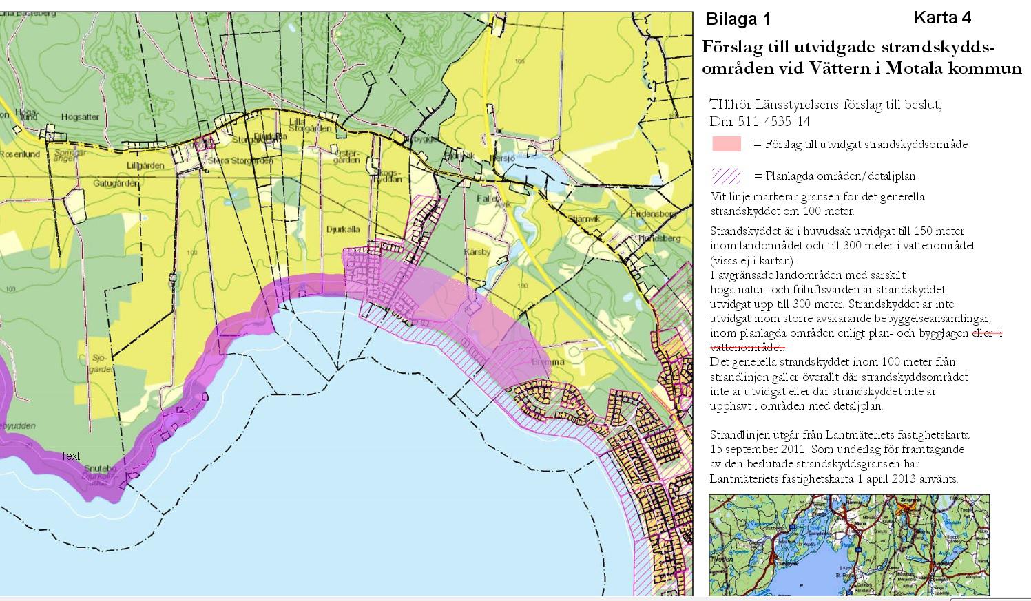 Utvidgat strandskydd för Djurkälla Kärsby och Bromma med NF:s kompletteringsförslag